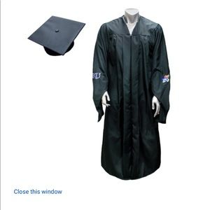 KU Masters gown and cap